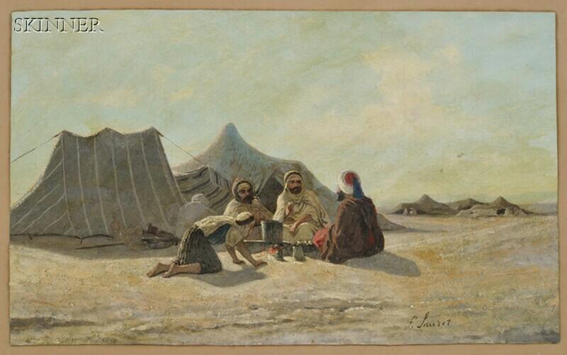François Lauret (French, 1820-1868)      Desert Encampment