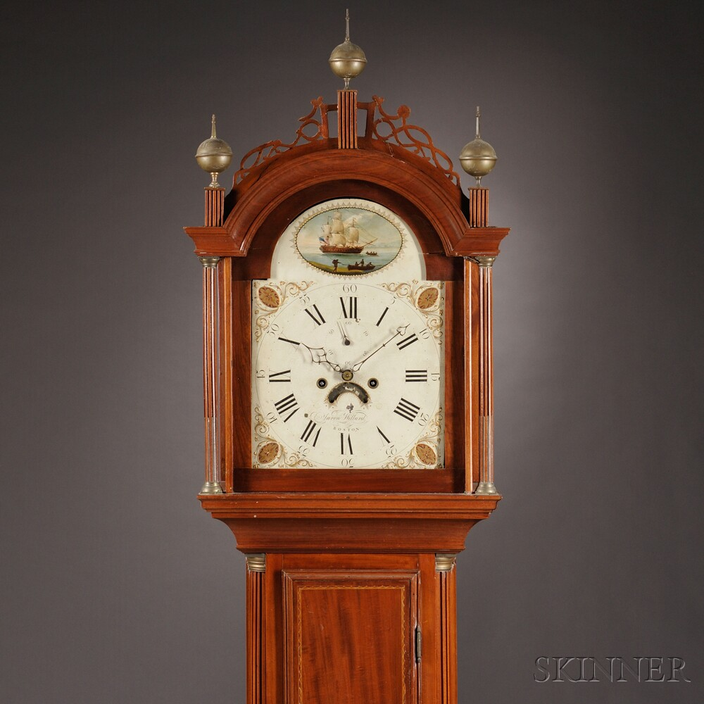 Aaron Willard Mahogany Tall Clock
