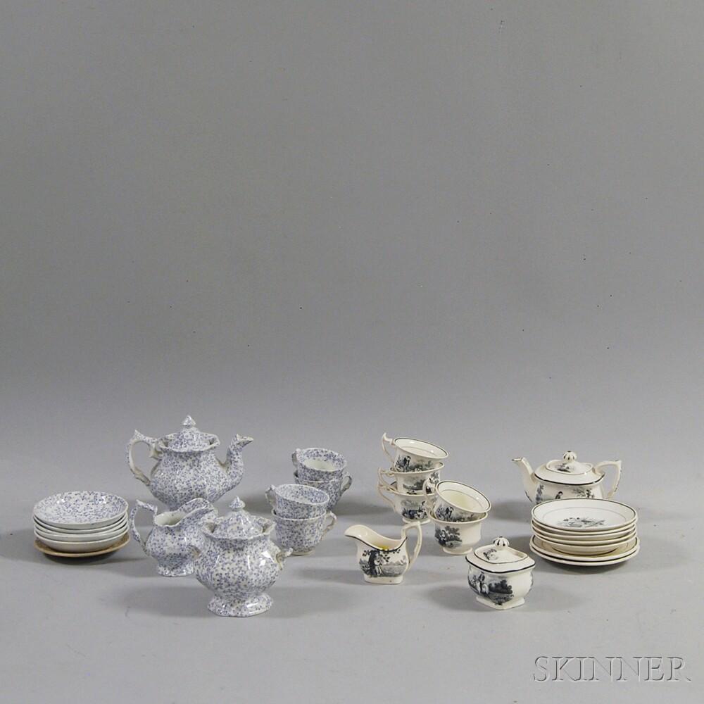 Two Miniature Child's Ceramic Tea Sets