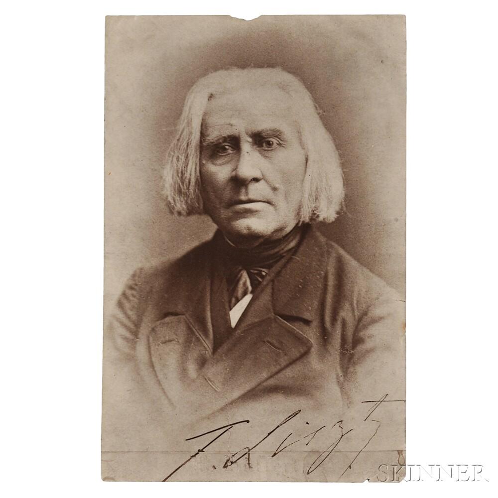 Liszt, Franz (1811-1886) Signed Photograph.