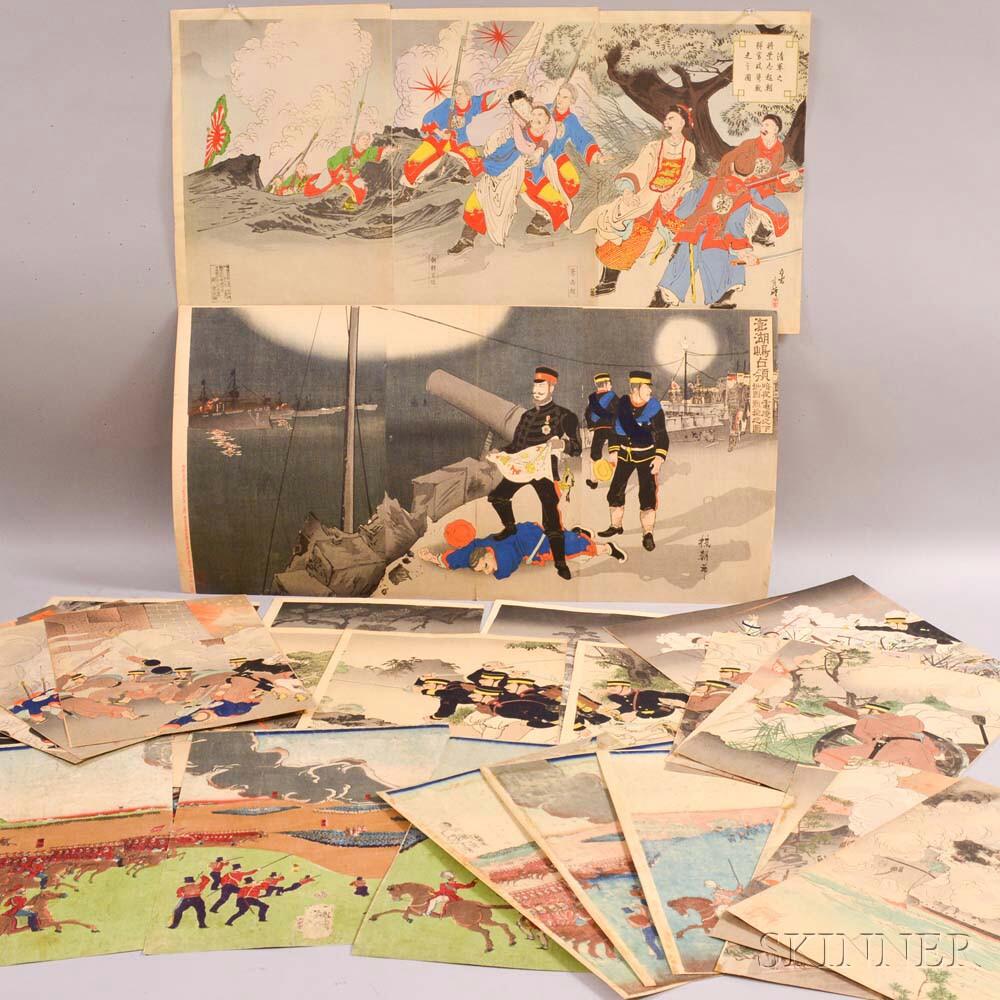 Eleven Senso-e   Woodblock Prints