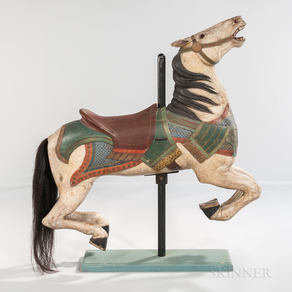 Carved and Painted Carousel Horse Figure