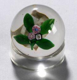 Floral Bouquet Miniature Glass Paperweight
