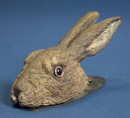 Austrian Cold Painted Bronze Rabbit-form Paper Clip