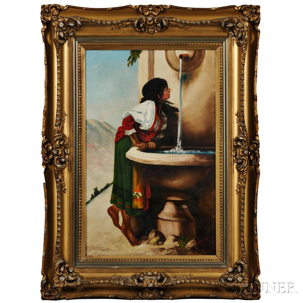 Italian School, 19th Century      Italian Peasant Woman