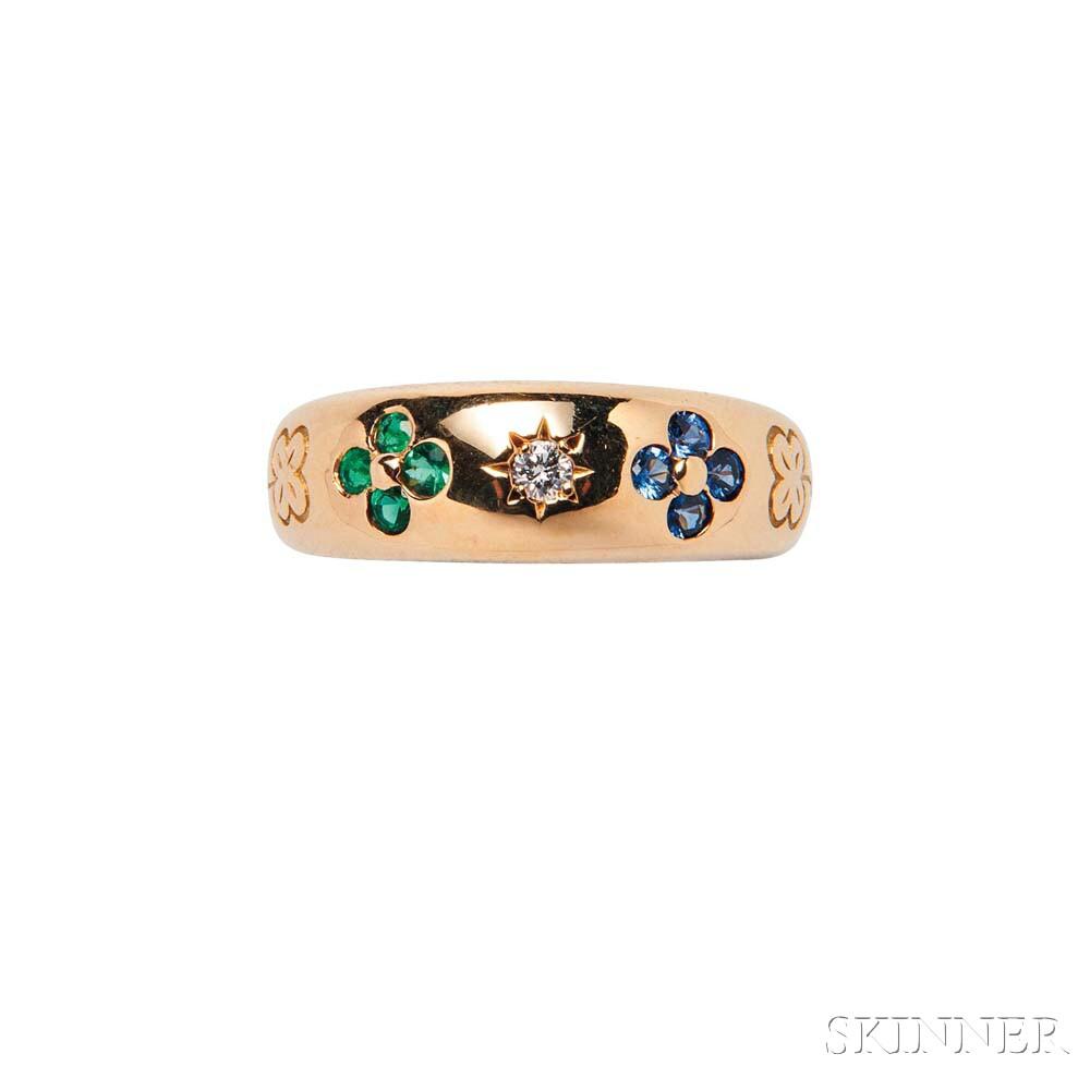 18kt Gold Gem-set Ring, Van Cleef & Arpels