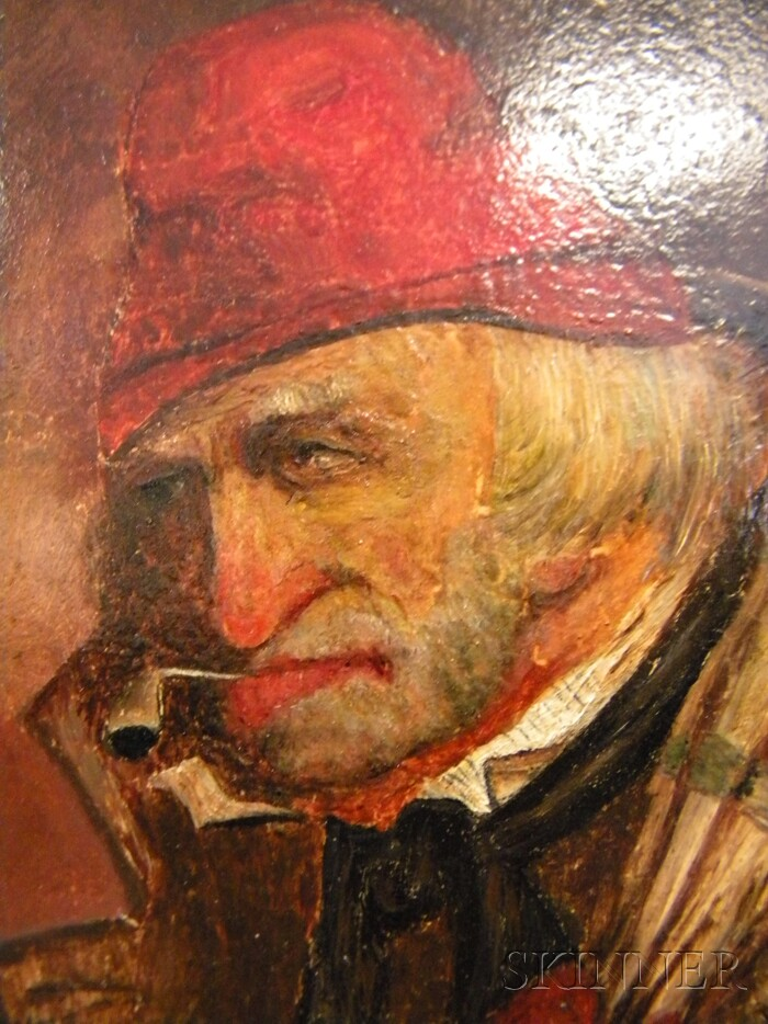 Continental School, 19th/20th Century      Portrait of a Man with a Red Hat