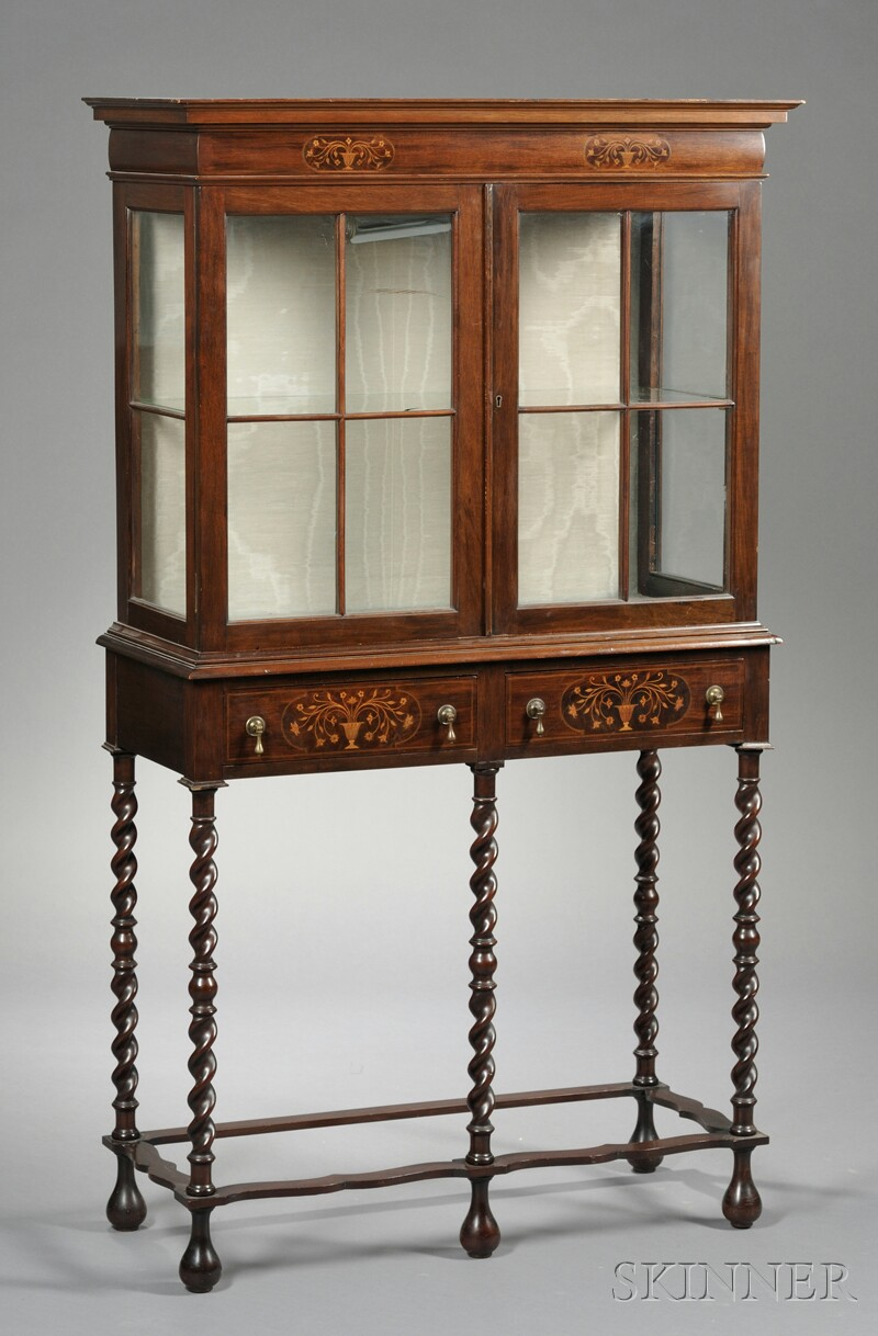Dutch Marquetry-inlaid Collector's Cabinet