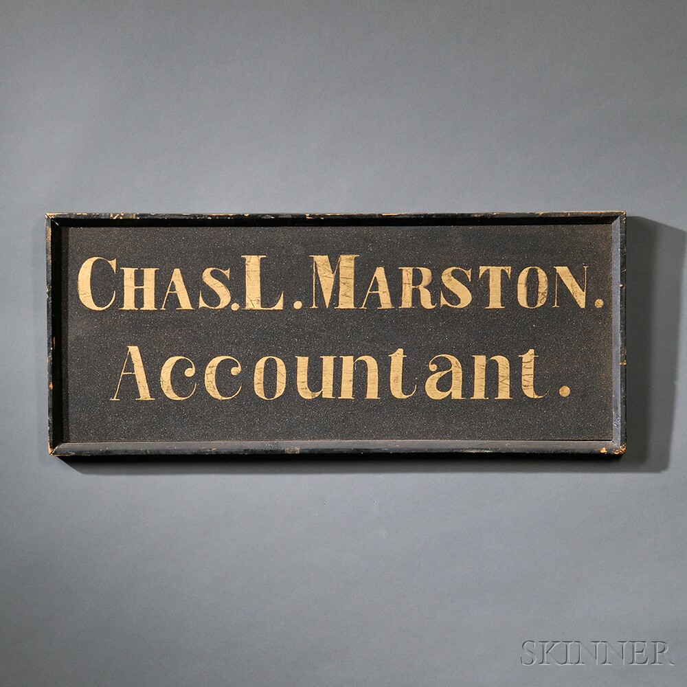"""CHAS. L.MARSTON./Accountant."" Trade Sign"