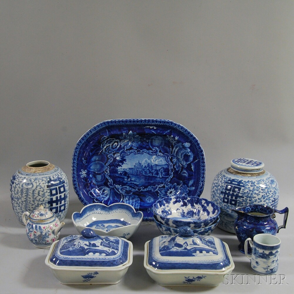 Group of Blue and White Mostly Chinese Export Porcelain