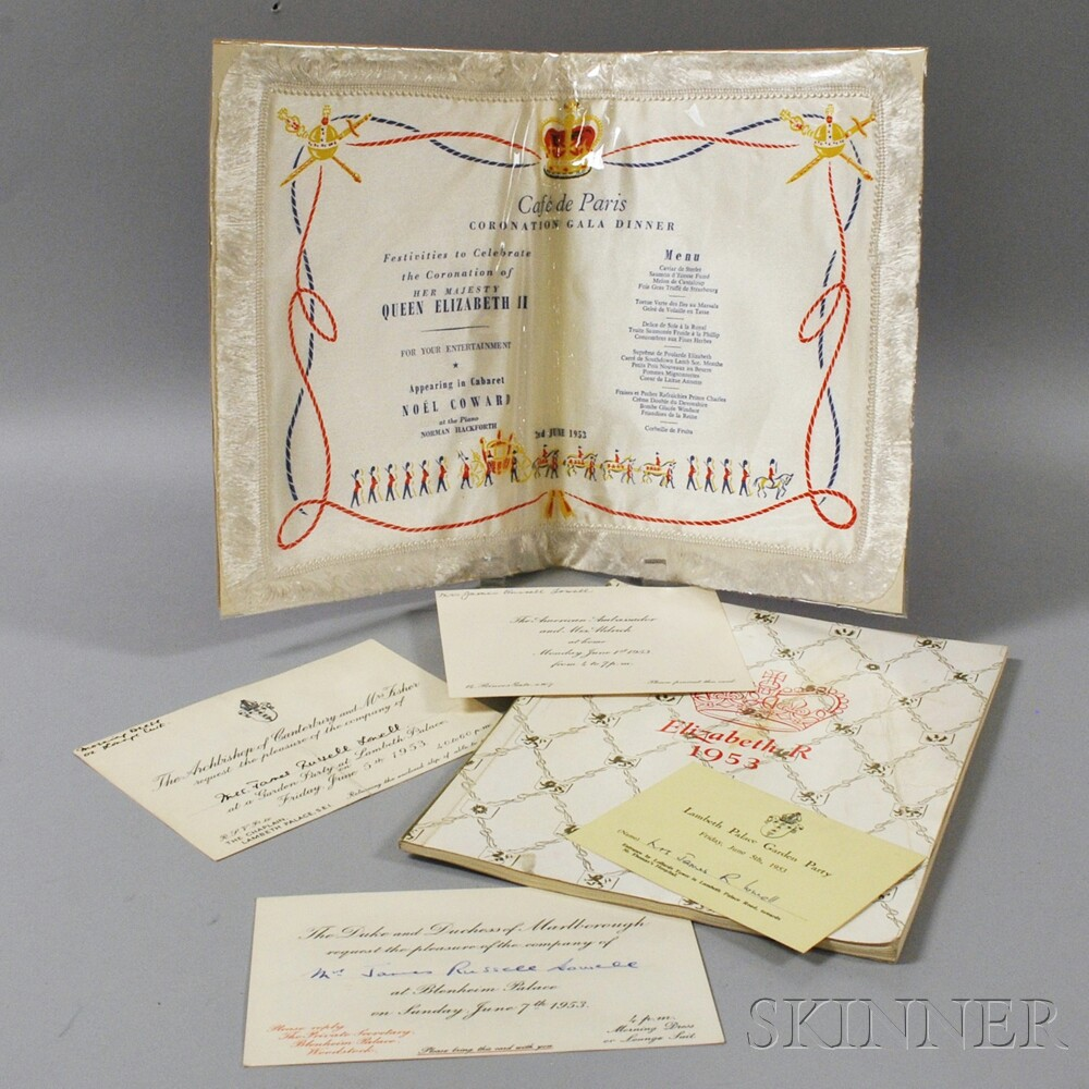 Small Group of Queen Elizabeth II Coronation Memorabilia