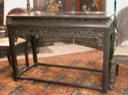 Chinese Carved Hardwood Altar Table.