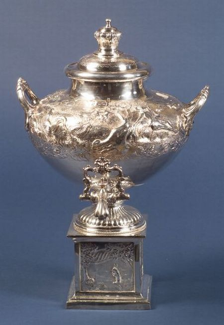 Dutch-style Silver Plate Hot Water Urn