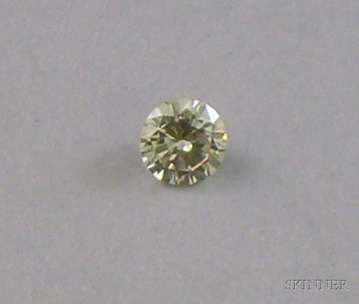 Unmounted Approx. 0.75 Carats Round Brilliant-Cut Diamond