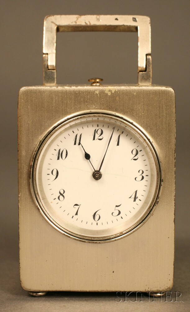 Tiffany & Co. Sterling Silver Grand Sonnerie Travel Clock
