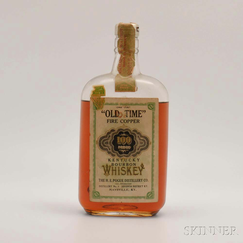 Old Time Fire Copper 11 Years Old 1916, 1 bottle