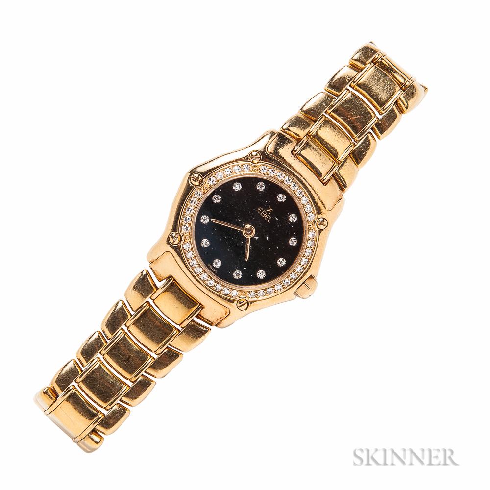 "Lady's 18kt Gold and Diamond ""1911 Mini"" Wristwatch, Ebel"