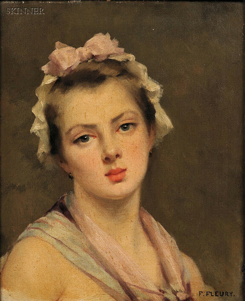 Fanny Laurent Fleury (French, 1848-1905)      Head of  a Young Woman