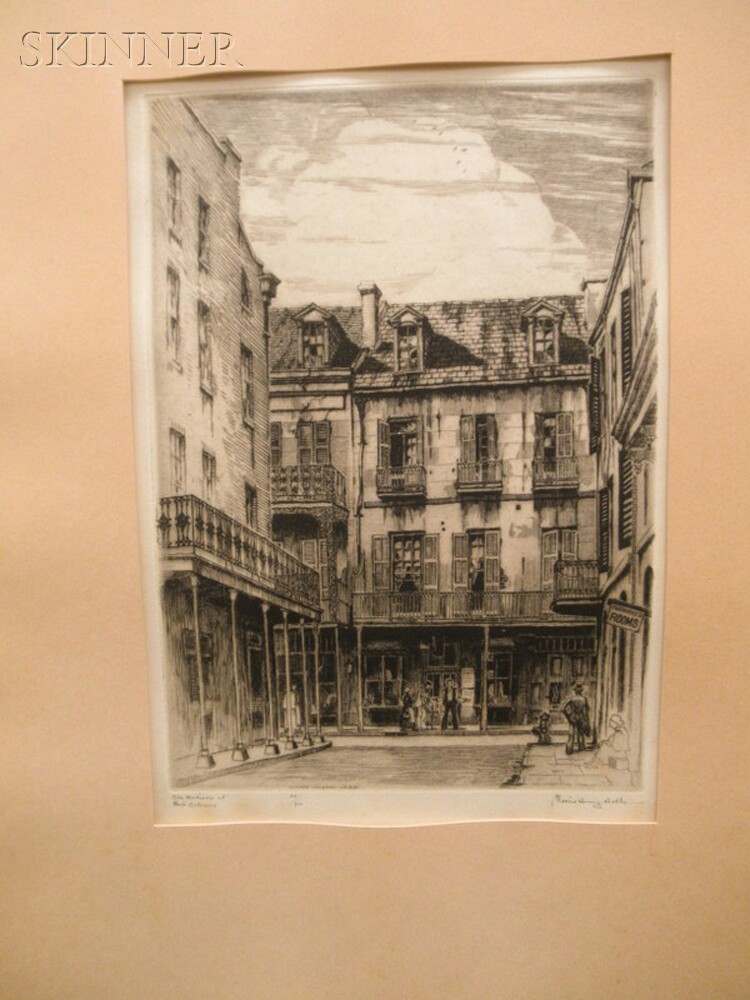 Morris Henry Hobbs (American, 1892-1967)      Two Views of the French Quarter: Old Madison St.