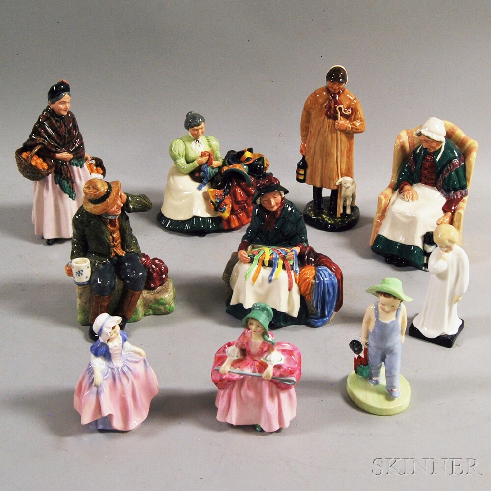 Ten Royal Doulton Ceramic Figures
