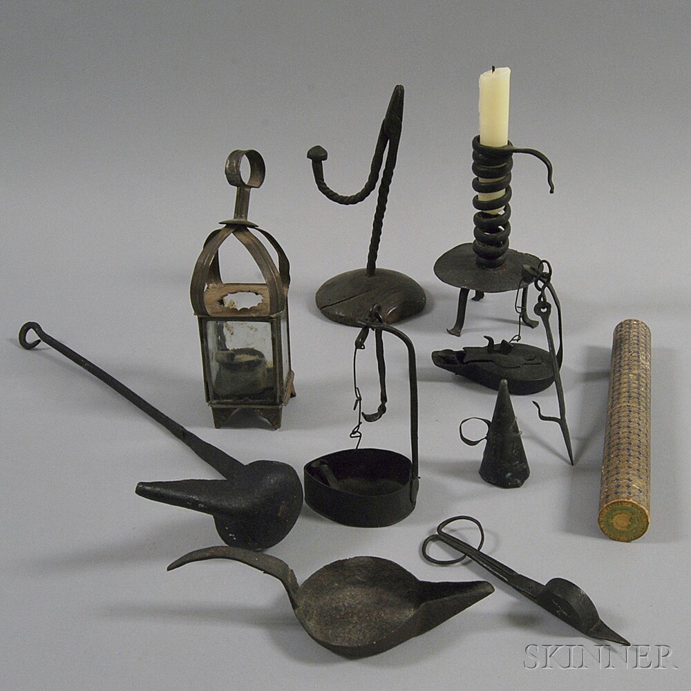 Nine Early Mostly Iron Lighting Devices
