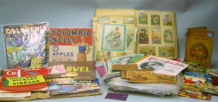 Lot of Assorted Collectible Paper, Ephemera, Trade Cards, Etc.Lot of...