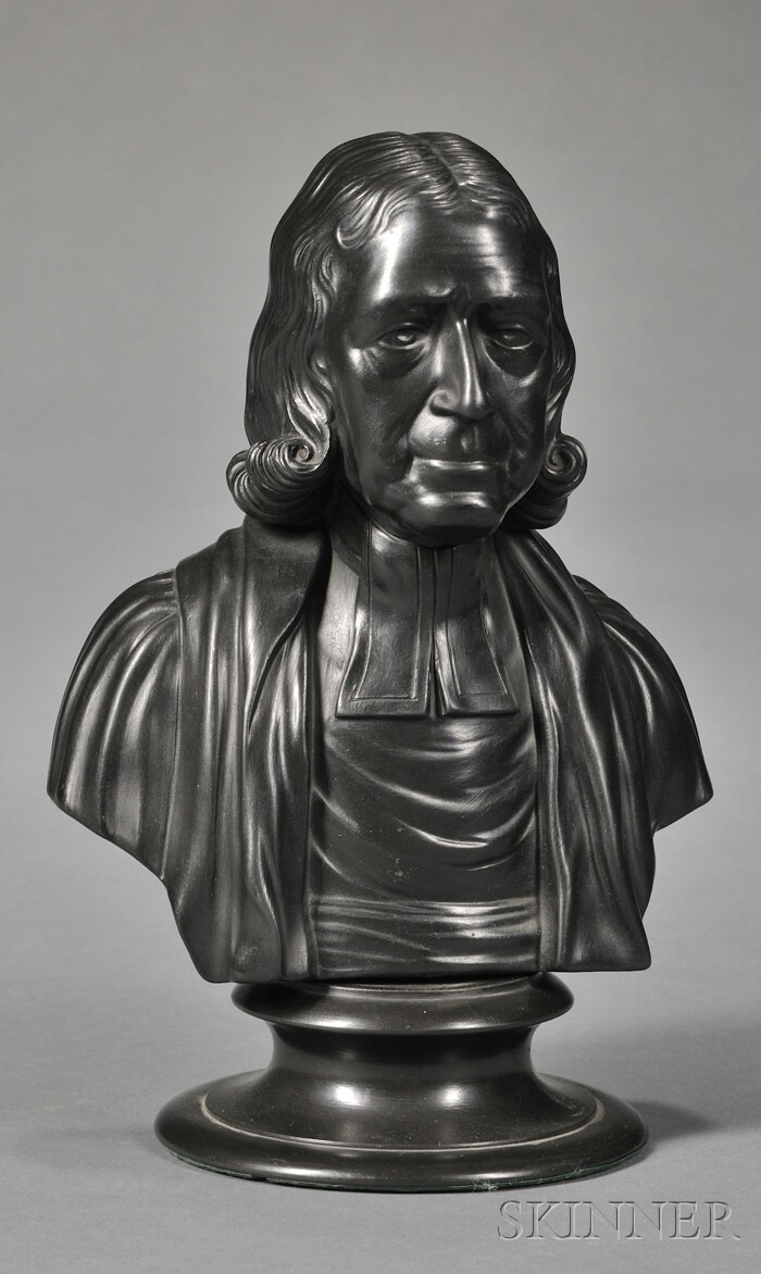 Wedgwood Black Basalt Bust of Wesley