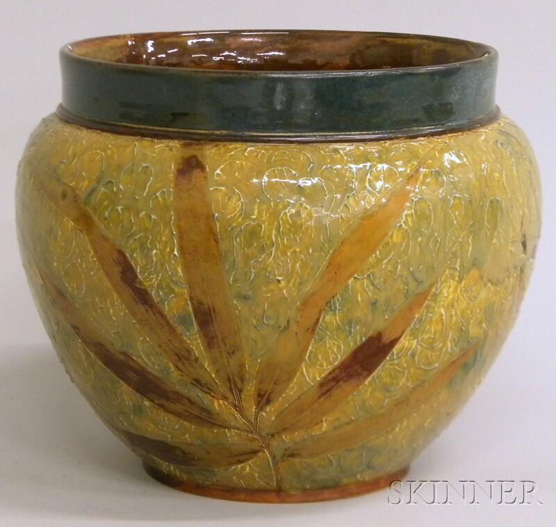 Doulton Lambeth Glazed Stoneware Jardiniere