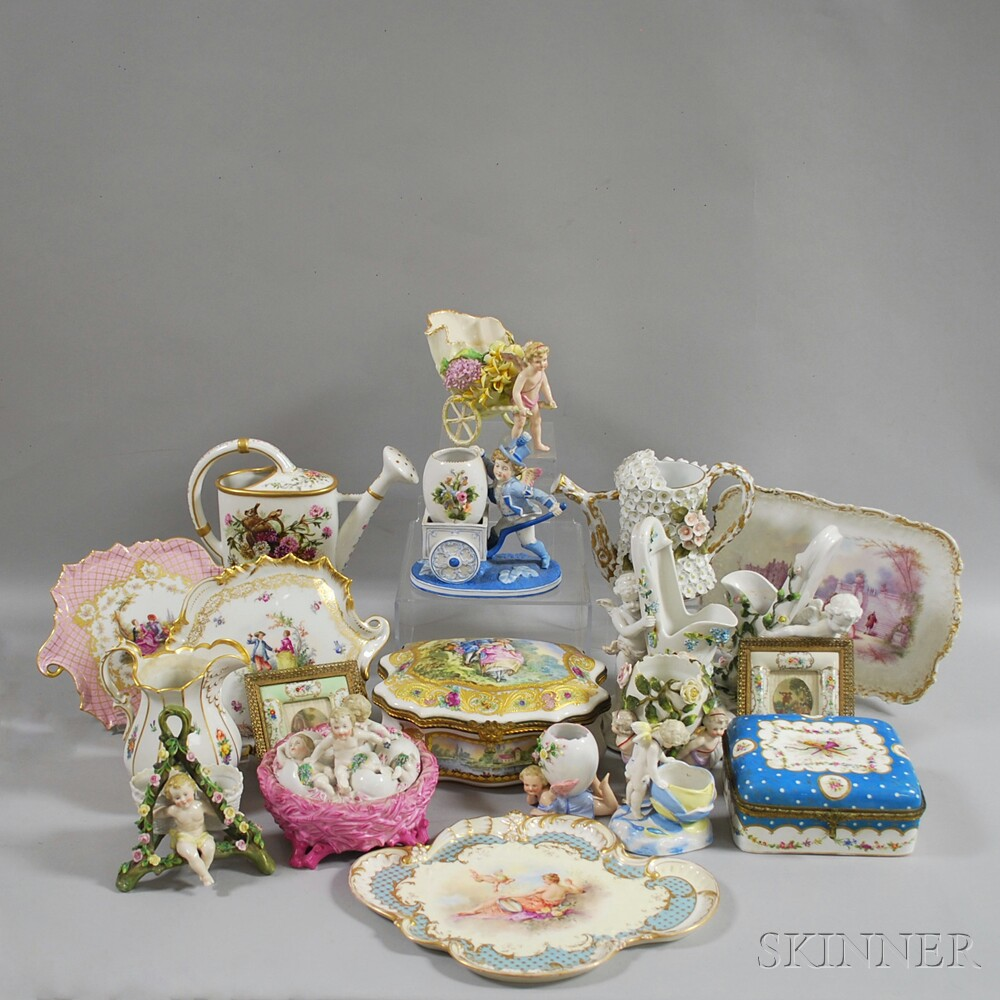 Twenty Continental Porcelain Items