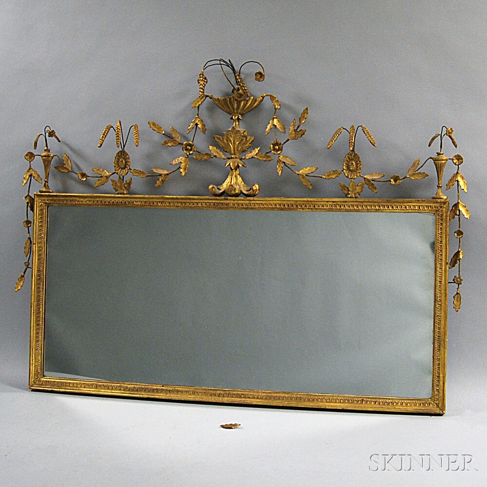 Federal Gilt Overmantel Mirror