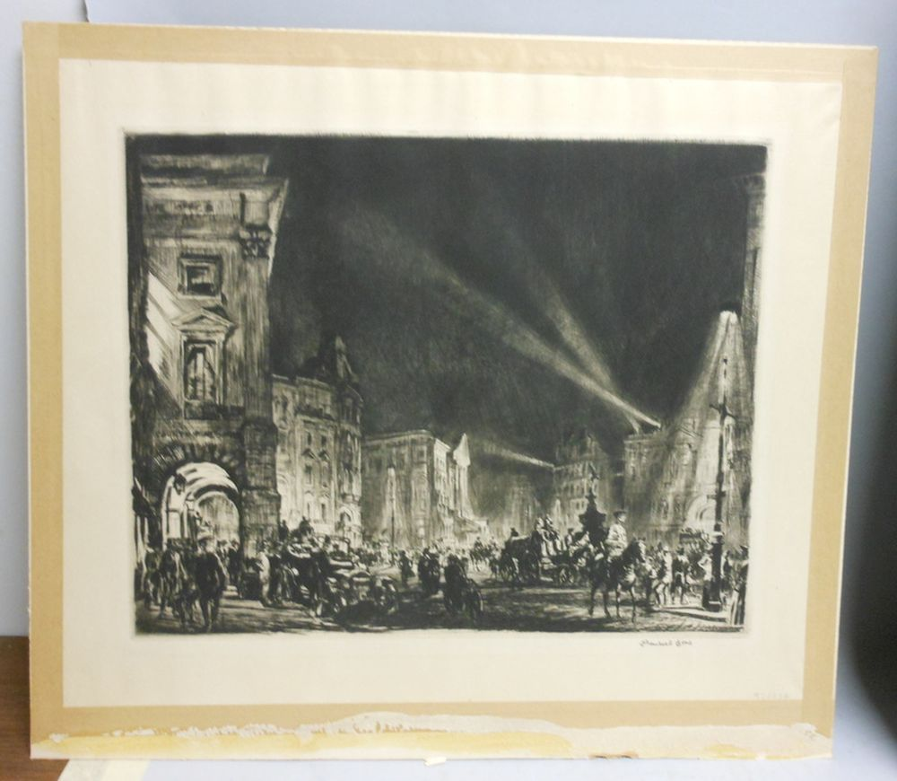 muirhead bone british 1876 1953 piccadilly circus sale number