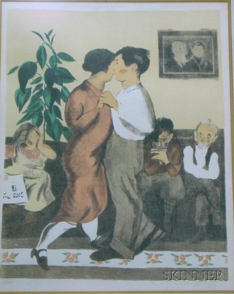 Raphael Soyer (American, 1899-1987)      Portrait of a Dancing Couple.