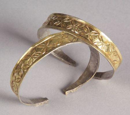 Pair of Silver-gilt Bracelets