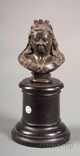 Bronze Commemorative Bust of Queen Victoria