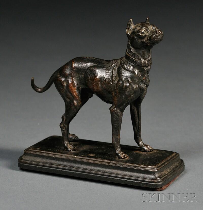 Bronze Figure of a Dog
