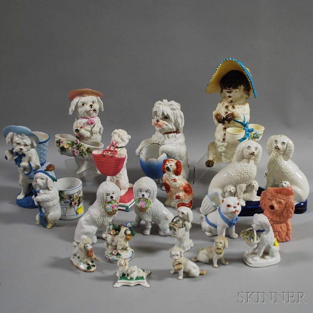 Twenty Ceramic Dog Figures