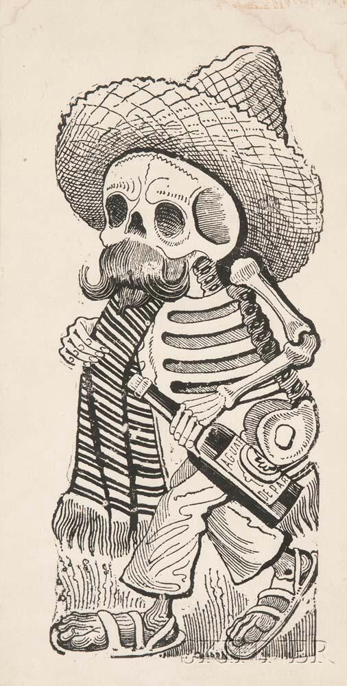 José Guadalupe Posada (Mexican, 1851-1913)      La Calavera de Madero