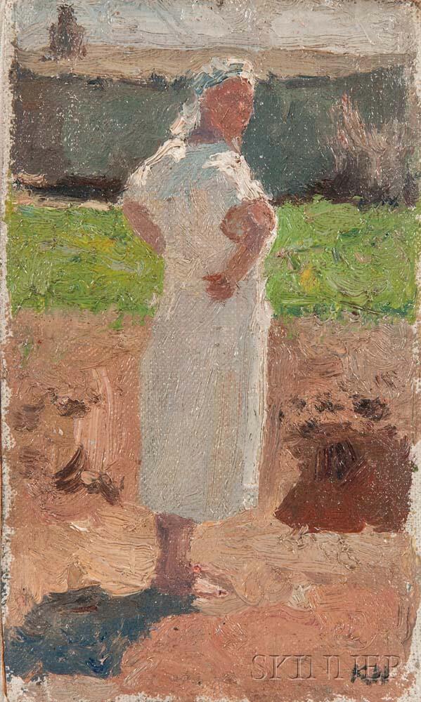 Kuzma Vasilevic Nikolaev (Russian, 1890-1972)    Milk Maid