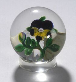 Baccarat Pansy Glass Paperweight