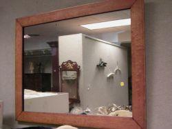 Birds-eye Maple and Gilt Gesso Framed Mirror.