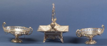 Three American Victorian Silver Plate Serving Pieces