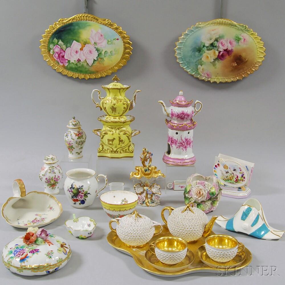 Approximately Twenty-three Continental Porcelain Items