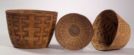 Three Southwest Coiled Baskets