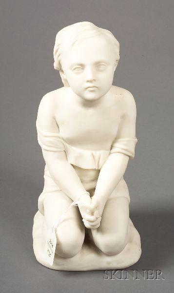 "Minton Parian Figure Representing ""Prayer"""