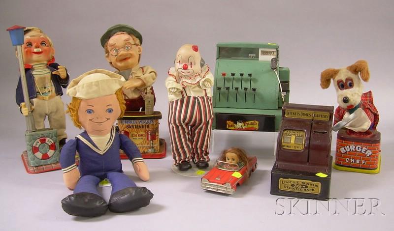 Eight Mid-20th Century Toys