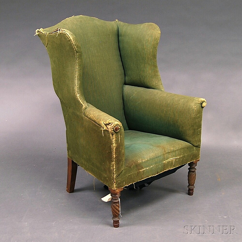 Federal Turned Mahogany Wing Chair