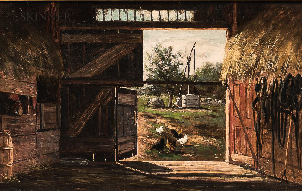 Frank Henry Shapleigh (American, 1842-1906)      Old Barn in Jackson N.H.