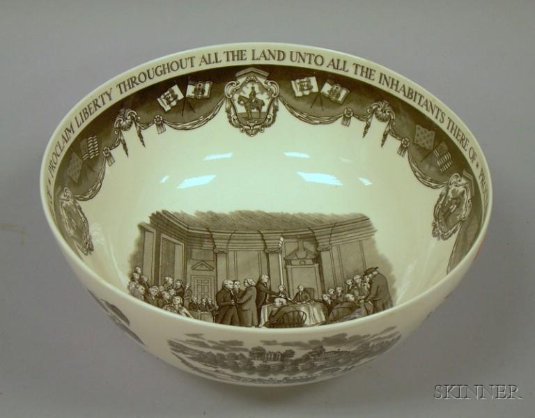 "Wedgwood Transfer ""The Philadelphia Bowl,"""