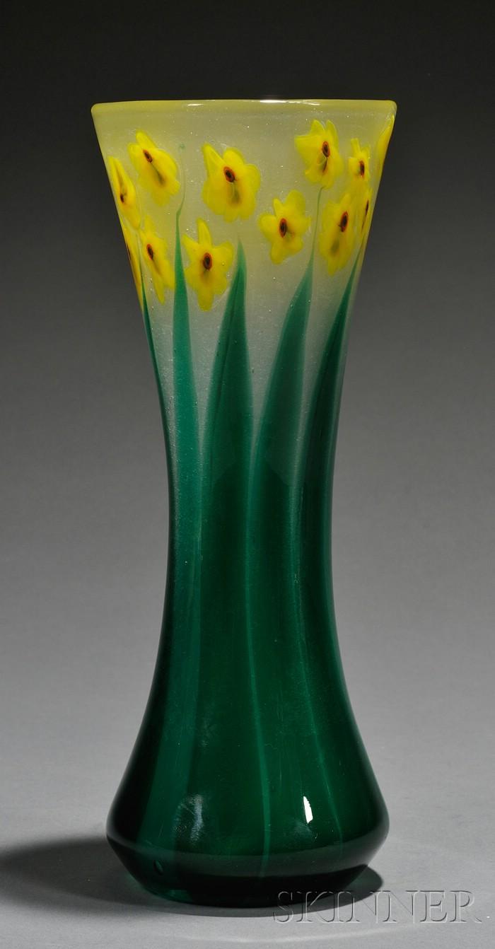 Tiffany Paperweight Daffodil Vase