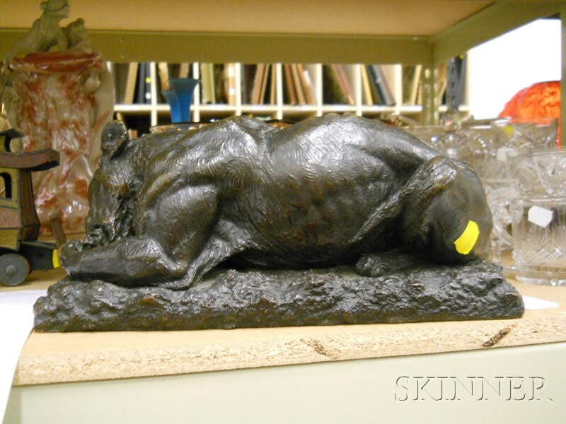 Barye (French, 19th century)      Bronze Figure of a Panther